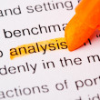 Analysis word - Stock Photo