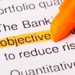 Objective word - Stock Photo