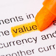 Value word — Stock Photo
