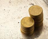 Euro cents — Stock Photo