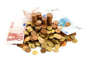 Euro cent and notes — Stock Photo