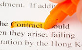 Contract def — Stock Photo