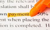 Def płatności — Zdjęcie stockowe