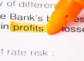 Profits def — Stock Photo