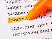 Interest def — Stock Photo