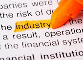 Industry word — Stock Photo