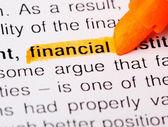 Finanční slovo — Stock fotografie