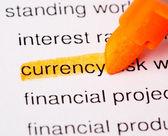 Słowo waluty — Zdjęcie stockowe