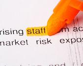Staff word — Stock Photo