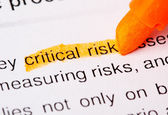 Kritische risiko wort — Stockfoto