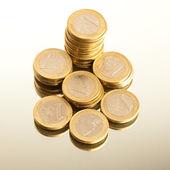 денежные монеты — Стоковое фото