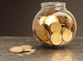 Money on metal — Stock Photo