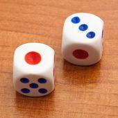 Dice cubes — Stock Photo