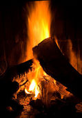 Fire at night — Stock Photo