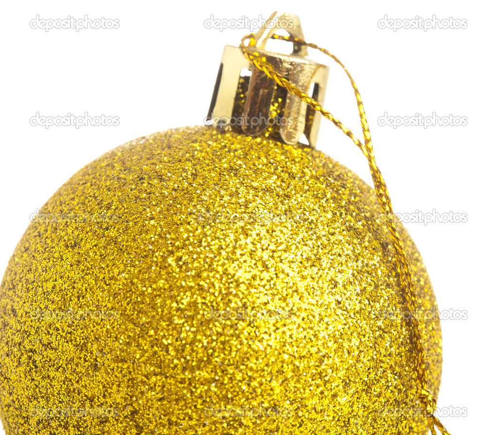 Closeup of a christmas balls on a white background — Stock Photo #10390074