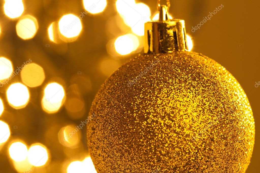 Closeup of a christmas balls on a light background — Stock Photo #10390083