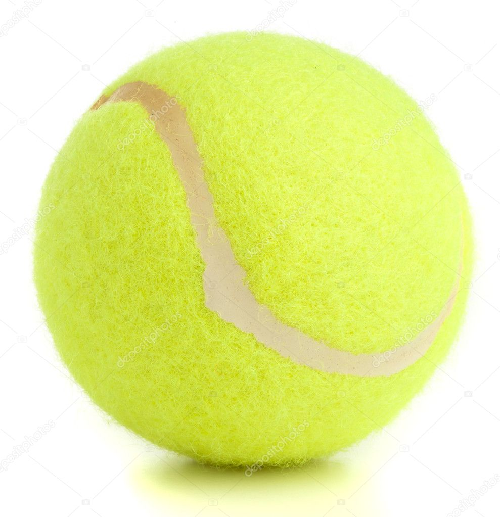 Tennis ball isolated on a white background — Stock Photo #10390102