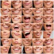 Stock Photo: Collection of pretty girl mouth gestures