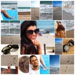 Collection of a summer photos — Stock Photo