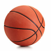 Basketball ball over white background — Stok fotoğraf