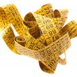 Yellow measure tape - Stock Photo