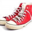 Stock Photo: Red vintage shoes