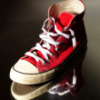 red sneakers — Stock Photo #10426104