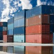 Containers on harbor - Stock Photo
