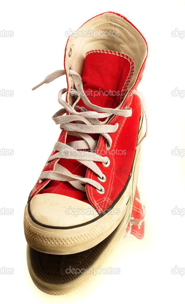 Red vintage sneakers — Stock Photo #10426111