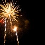 Golden fireworks — Stock Photo #10470976