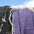 Harbor nets — Stock Photo