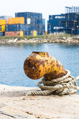 Port mooring — Stock Photo