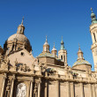 Our Lady of the Pillar Basilica-Cathedral in Zaragoza — Stock Photo