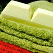 Towels and soap — Stockfoto #8130714