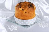 Panettone the italian Christmas cake — Stock Photo