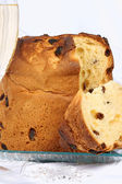 Panettone and spumante the italian Christmas tradition — Stock Photo