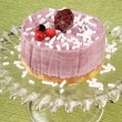 Wild berries bavarian cream — Stock Photo
