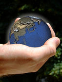 World in your hand — Stock Photo