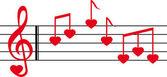 Love song — Stock Vector