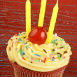 Birthday cupcake — Stock Photo #8894367