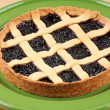 Stock Photo: Cherry jam tart