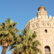 Torre del Oro or Gold Tower in Seville - Stock Photo