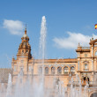 Palacio Espanol, Plaza de Espana in Seville - Stock Photo