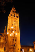 La Giralda tower by night — Stock Photo