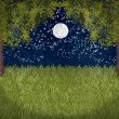 Stock Photo: My sweet moonlight garden
