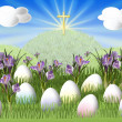 Easter meadow - Stock Photo