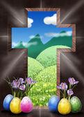 Zmartwychwstania krzyż naszej drodze do nieba — Zdjęcie stockowe