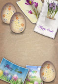 Grunge easter background — Stock Photo