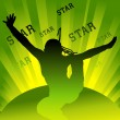 Dancing star — Stock Vector