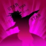 Dancing star — Stock Vector